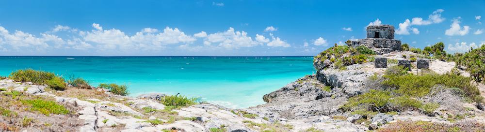 Tulum Ruin along Caribbean